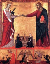 Barna da Siena Mystic Marriage