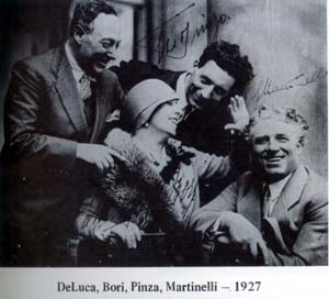Giovanni Martinelli with de-Luca